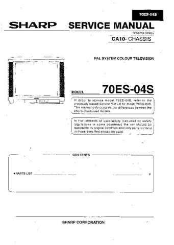 Sharp 70ES04S (1) Service Manual by download Mauritron #207920
