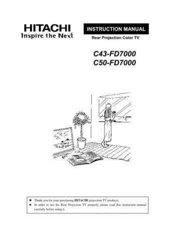 Hitachi C50FD7000 Service Manual by download Mauritron #260551