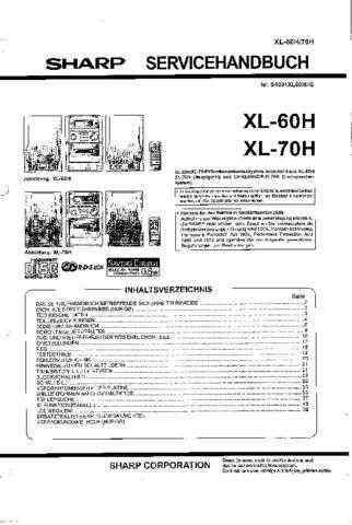 Sharp. XL60-70H_SM_DE(1) Manual by download Mauritron #212128