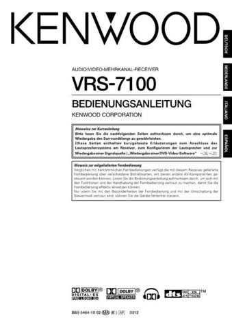 Kenwood VRS-7100 by download Mauritron #219854