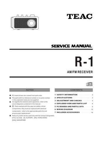 Teac R-1 Service Manual by download Mauritron #223867