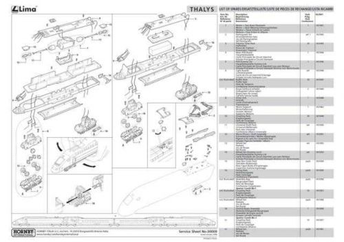 Lima No.00009 Thalys Service Sheets by download Mauritron #206162