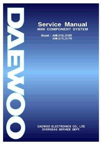 Daewoo. AMI-225 325MMU. Manual by download Mauritron #212548