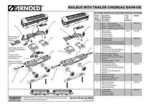 Arnold No.052 Railbus With Trailer Chiemgau BAHN-DB HN2011 Views etc by downloa