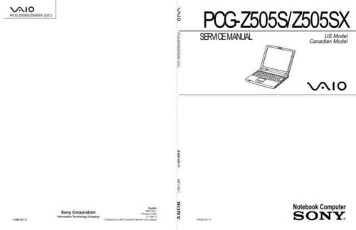 Sony PCG-VX88-VX88P Service Manual. by download Mauritron #243385