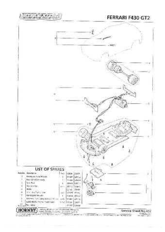Scalextrix No.412 Ferrari F430 GT2 Service Sheets by download Mauritron #206574