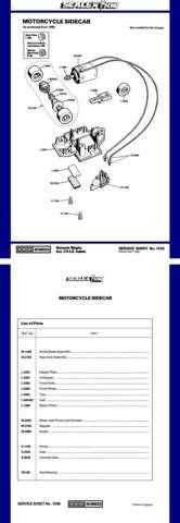 Scalextrix No.124B Motorcycle Sidecar Service Sheets by download Mauritron #206