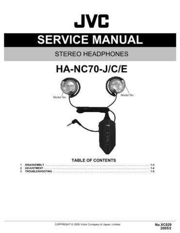 JVC HA-NC70-J Service Manual. On by download Mauritron #270917