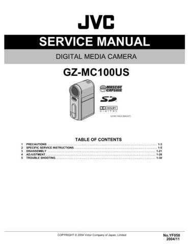 JVC GZ-MC100US Service Manual Schematic Circuit. by download Mauritron #270886