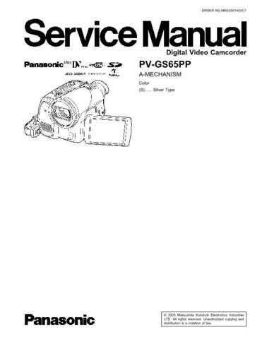 Panasonic MKE0608858CE Service Manual by download Mauritron #267952