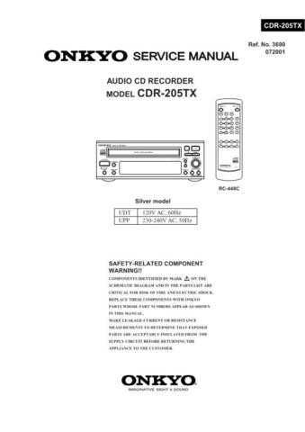 Sony CDR-205TX Service Manual by download Mauritron #237421