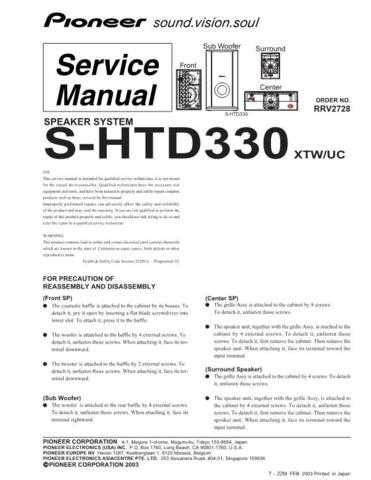 Sharp R2728 Service Manual by download Mauritron #209428