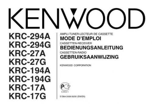 Kenwood KRC-294G Operating Guide by download Mauritron #222572