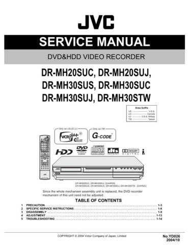 JVC DR-MH30SUS Service Manual Schematic Circuit. by download Mauritron #270275