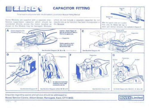 Hornby Zero 1 Capacitor Fitting by download Mauritron #207213