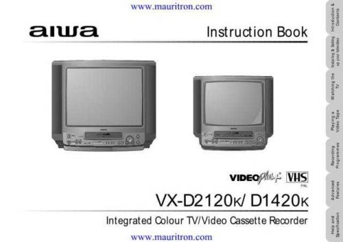 Aiwa VXD2120 Operating by download Mauritron #320426