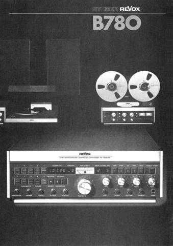 Revox B780 Operating Guide by download Mauritron #313037