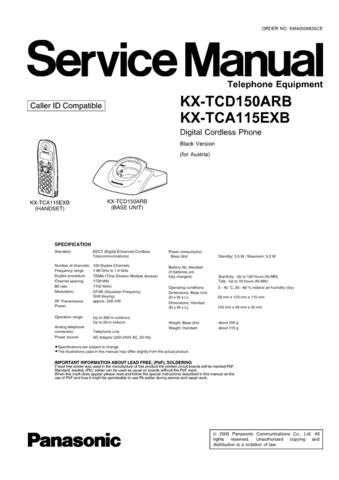 Panasonic TCD150AR Manual by download Mauritron #301891