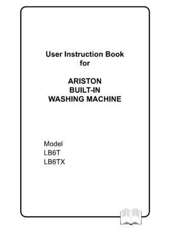 Ariston LB-6TX Washer Operating Guide by download Mauritron #306835