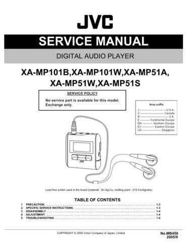 JVC XA-MP101B by download Mauritron #284593