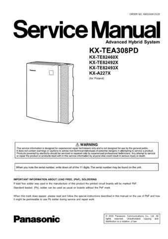 Panasonic TEA308PD Manual by download Mauritron #302239