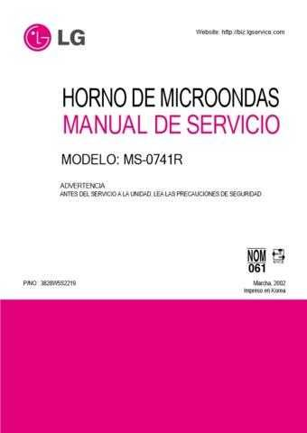 LG 3828W5S2219 Manual by download Mauritron #304274