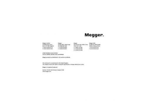 Megger BMM500 EN Operating Guide by download #336163