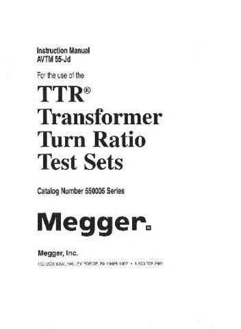 Megger AVTM212480 Operating Guide by download Mauritron #310133