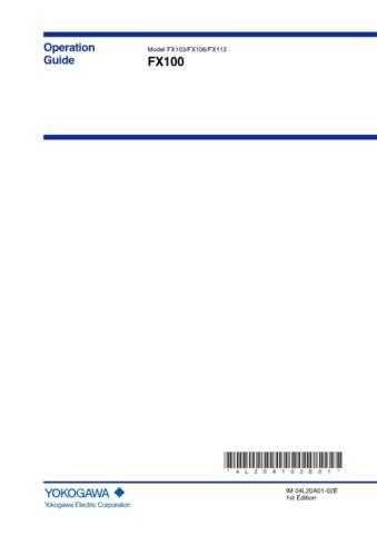 Yokogawa FX106 Operating Guide by download Mauritron #314709