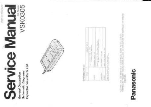 Panasonic VSK0305 by download Mauritron #302663