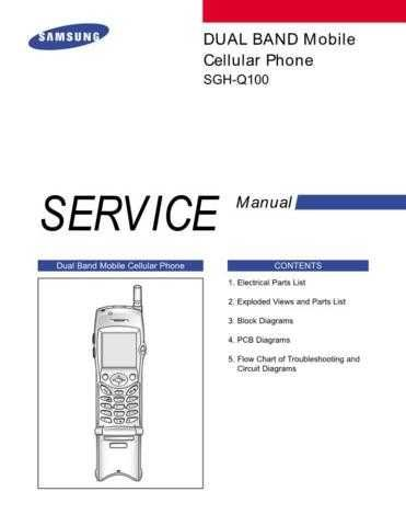 Samsung SGH-Q100 Mobile Phone Service Manual by download Mauritron #306409