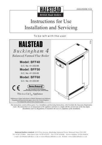 Halstead BUCKINGHAM 4 BFF40 50 60INSTALL by download Mauritron #324516