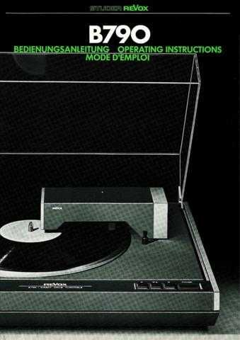 Revox B790 Operating Guide by download Mauritron #313038