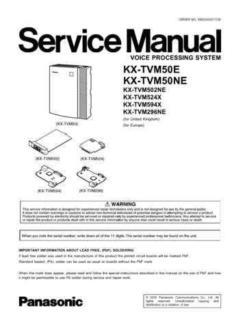 Panasonic TVM50E_NE Manual by download Mauritron #302456