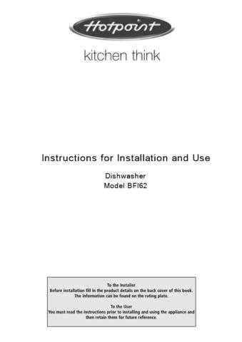Hotpoint BF-32 Dishwasher Operating Guide by download Mauritron #313490
