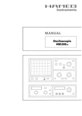 Hameg HM205 3 Operating Guide in Spanish by download Mauritron #307164
