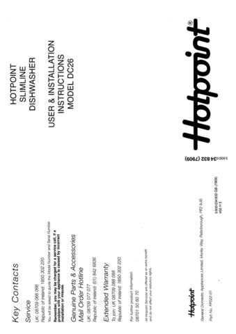 Hotpoint DC-22 Dishwasher Operating Guide by download Mauritron #313549