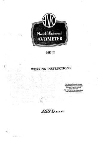 AVO MODEL 8 MK II Combined by download Mauritron #330353