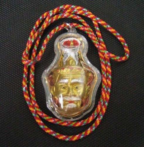 THAI AMULET THE HERMIT PORKAE OR HEAD FATHER PENDANT MAGIC 5 COLORS ROPE