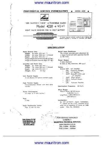 HMV 4220 Manual by download Mauritron #307363