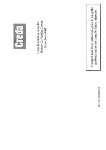 Creda HB49602 Operating Guide by download Mauritron #312953