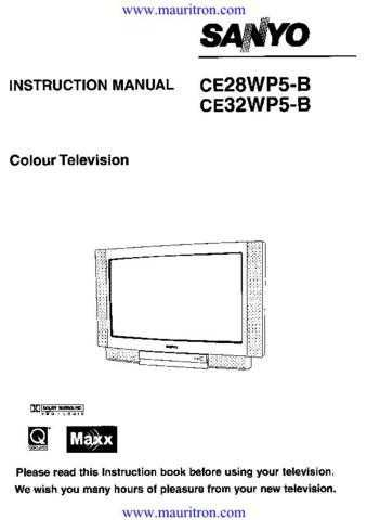 Sanyo CE32WP5-B Operating by download Mauritron #326319