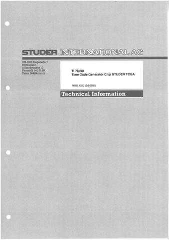 Studer TI_78-90_E_TC_Gen_Chip_TCGA by download Mauritron #313138