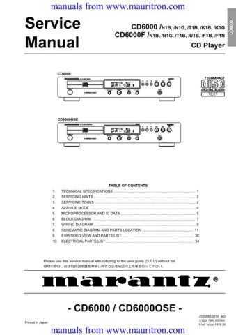 Philips CD6000 OSE Service Manual by download Mauritron #306172