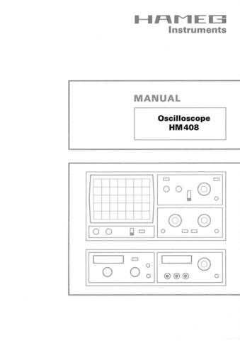 Hameg hm408 Operating Guide by download Mauritron #307184