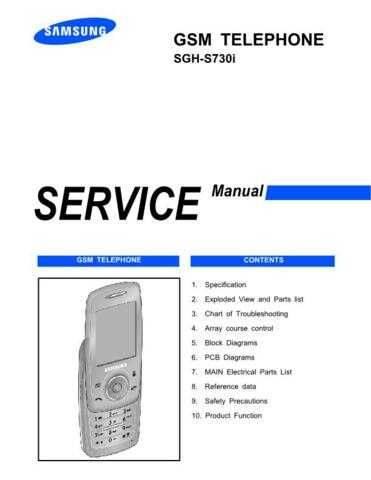 Samsung SGH-S730i Mobile Phone Service Manual by download Mauritron #306429