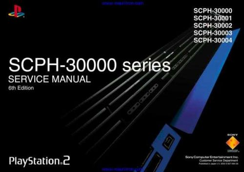 Sony SCPH-30000 series Playstation 2 Service Manual Manual by download Mauritron #312