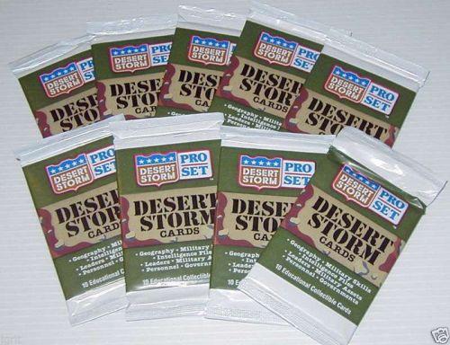 9 new sealed packs DESERT STORM cards 1991 PRO SET new