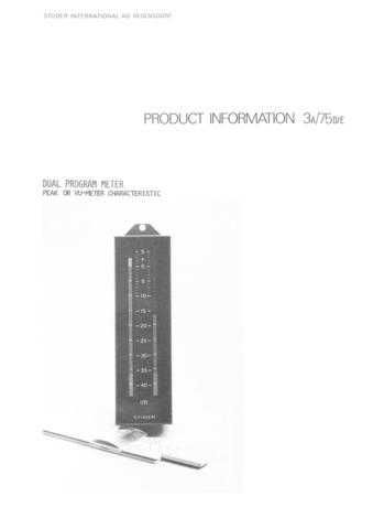 Studer PI_1975-03A_DE_Dual_Level_Meter by download Mauritron #313213