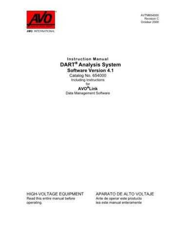 AVO DART Analysis System Operating Guide by download Mauritron #309020